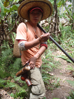 Ajor and his blowpipe (Rachel Wyatt, 2013)