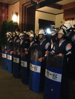 Police guarding Taiwan's Legislative Yuan (Michelle H J Tsai, 2015)