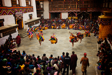 Mongar Dzong Tshechu Dancers in Eastern Bhutan (Jonathan Taee, 2013)