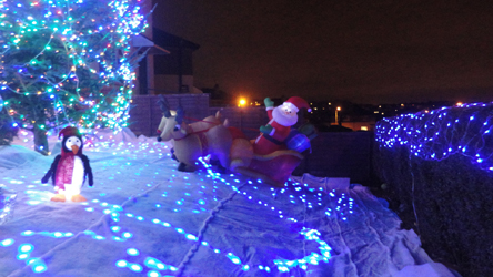 Front yard with Christmas decorations (Ryan Davey, 2013)