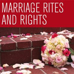 Miles, Mody and Probert: Marriage Rites and Rights
