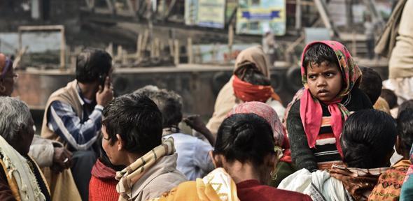 Crowded ferry in Mayapur (credit: John Fahy)