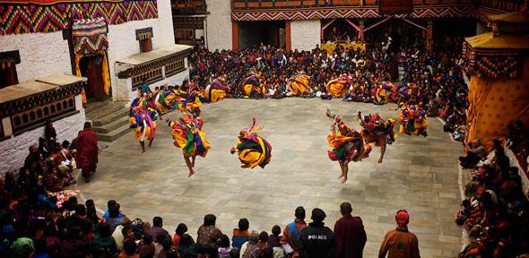Mongar Dzong Tshechu Dancers, Bhutan (credit: Jonathan Taee)